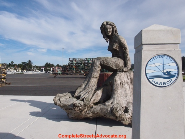 drift wood woman statue