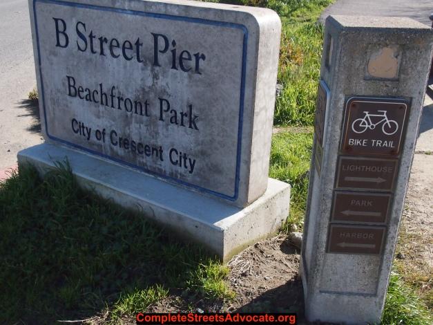 B street pier sign